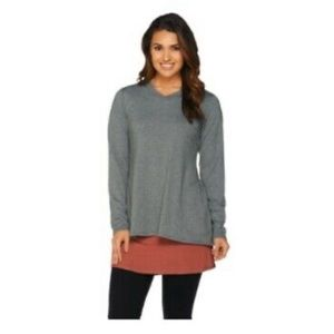 LOGO lounge by Lori Goldstein open back sweatshirt